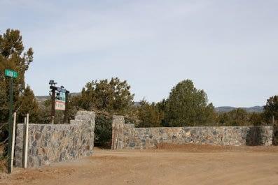 Entrance Gate to Manzano's RV Park